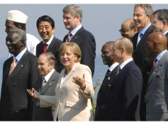 German Chancellor Angela Merkel at the G8 group photo with Africa Outreach representatives
